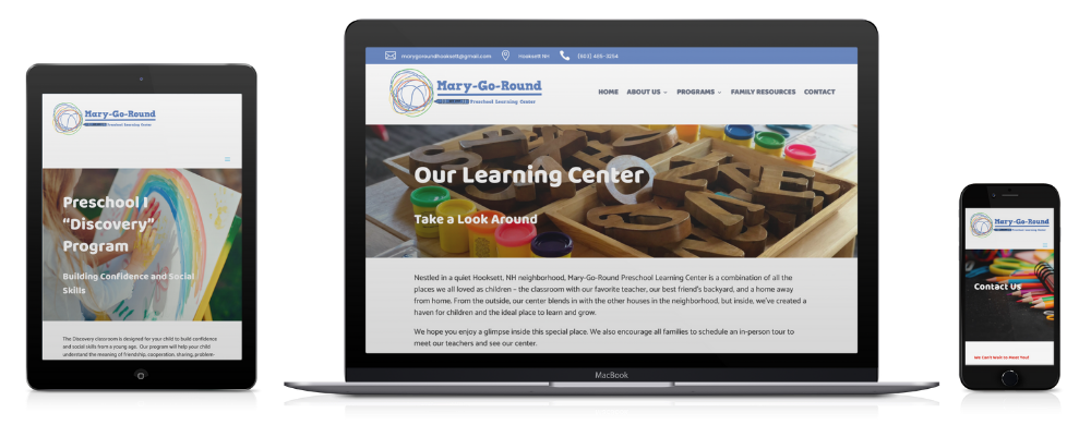Mary-Go-Round Preschool website Sub Pages